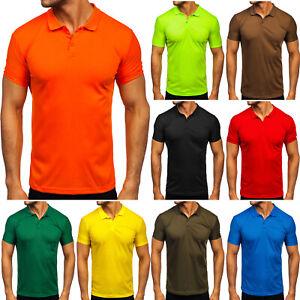 Poloshirt T-Shirt Polo Tee Hemd Kurzarm Men Basic Classic Herren BOLF Unifarben
