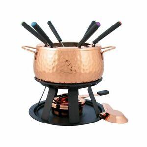New Swissmar Biel 11pc Fondue Set 11 Piece   Copper