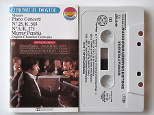 MURRAY PERAHIA . MOZART . PIANO CONCERTI  N° 25 & 5 . TAPE . CASSETTE . K7 AUDIO