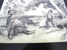 """GUILLAUMET Gustave(1840-1887) """"TRISTESSE"""" -DESSIN DU 19è AU CRAYON NOIR (F)"""