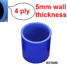 """ID:51mm(2"""") BLUE 4-PLY 5mm THICK EXHAUST PIPE SILICONE HOSE COUPLER TURBO"""