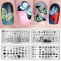 BORN PRETTY Nail Stamping Plates Rectangle Nail Art Stamp Templates