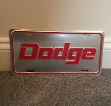 DODGE License Plate Charger Challenger Coronet Dart Script 70 71 72 73 74 Mopar