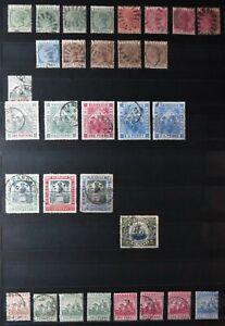 Barbados Stamps ~ Queen Victoria ~ George VI ~ 1882-1947 ~ Three Pages