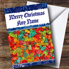 Gummy Bear Sweets Children's Personalised Christmas Greetings Card