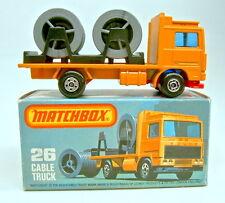 Matchbox SF nº 26d volvo cable Truck naranja roja BPL. ruedas mixta