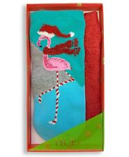 HUE 2-pack Footsie Socks Gift Box Flamingo