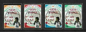 BIAFRA NIGERIA 1970 Mint NH Complete OVP Set of 4 Michel #50-53 VF