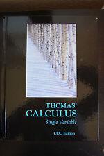 Thomas' Calculus 12th Edition Single Variable Textbook