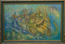 """Gérard Arnaud - """"L'amour et la vie"""" - Huile sur toile signée en bas à doite."""