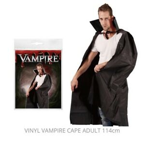 Halloween Vampire Cape Adult 114cm Fun Party Games Play 8+ Years NEW & SEALED