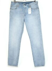 Womens Levis 501 Straight Leg Light Blue Mid Rise Jeans Size 14 W32 L32