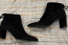 STUART WEITZMAN Women's Black Suede Leather Ankle Booties Size US 8 N