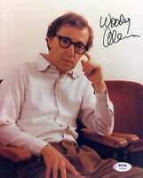 Woody Allen PSA DNA Coa Signed 8x10 Photo Autograph