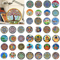 Mandala DIY Full Diamond Painting LED Light Cross Stitch Craft Embroidery Lamps