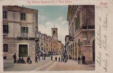 ACQUI: Via Vittorio Emanuele II e Torre Civica   1902
