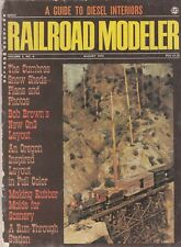 Railroad Modeler Aug 1973 - Rubber Molds - Snow Sheds 0 On3 Layout - Station