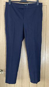 Lauren Ralph Lauren Womens Skinny Pants Trousers Dark Blue UK 16 RRP£110