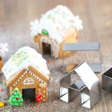 Mini 3PCS/set Gingerbread House Cookie Cutter Stainless Steel Biscuit Mold #ST4