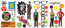 BIG BANG THEORY WALL DECALS New Sheldon Leonard Penny Stickers Kids Room Decor