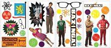 BIG BANG THEORY WALL DECALS New Sheldon Leonard Penny Stickers Kids Room Decor