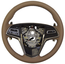 2014 Cadillac CTS Steering Wheel Cashmere Leather New W/CC Audio Paddle 23193071