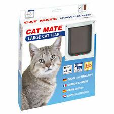 Pet Mate 4 Way Locking Large Cat Flap White - Small Dog 221W