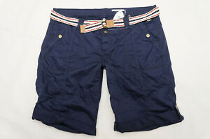Esprit edc NEU Damen Play Bermuda Turn Up Shorts kurze Hose Gr.36 S W28  blau