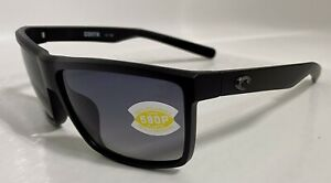 Costa Del Mar Rincon Blackout Frame Grey 580P Polarized Lens Sunglasses