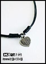 Collar Ajustable Corazón de Mimbre Marea Colgante Música Rock Amor Complemento