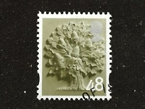 GB ENGLAND 2007 EN12 REGIONAL DEFINITIVE 48P OLIVE GREEN OAK TREE - VFU