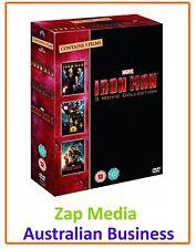 IRON MAN - MOVIE COLLECTION - FILMS 1 2 & 3 - DVD BOXSET - BRAND NEW & SEALED