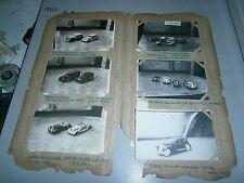 Lot de photo ancienne dinky toy série 30 39 DT  année 1930 jouet voiture tacot