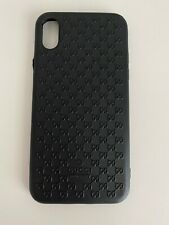 Gucci Case For Iphone X XS rubber Black With Logo