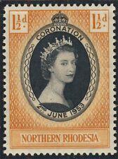 NORTHERN RHODESIA - 1953 - QEII CORONATION SG 60 / Scott 60 - U/M**