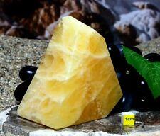 More details for orange calcite / honey onyx - polished freeform - natural healing mineral 410g