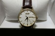 Tissot Men's T0194303603101 Visodate Automatic Brown Band White Dial Watch