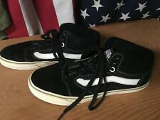 VANS TNT FIVE Black white SUEDE LEATHER OTW Mid Pro Skateboard Shoes Mens 7 used