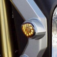 For 2014-2016 Honda Grom Flush LED Turn Signal Amber Light Blinkers Smoked Lens