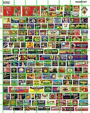"""5052 DAVE'S DECALS ASSORTED VINTAGE SMALL CRATE ADVERTISING SIGNS 1/4"""" 1/2""""  1"""""""