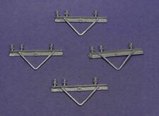 O SCALE WISEMAN DETAIL PARTS #O280 POWER POLE 3 WIRE ANGLE IRON CROSS ARMS