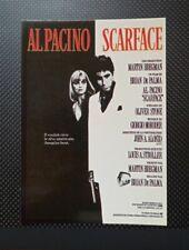 carte postale cinéma film SCARFACE Al Pacino Brian de Palma