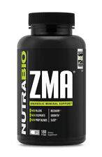 NUTRABIO ZMA 180 VEGETABLE CAPSULES MINERAL SUPPORT RECOVERY GROWTH SLEEP 60 SRV