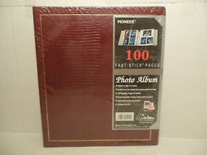 Pioneer Photo Album With 100 Magnetic Pages, No PVC - NEW SEALED- BURGUNDY