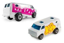 MQ + TYO TYOTOYS GRAFFITI ART 1:64 SCALE DIECAST MATCHBOX MINI CHEVY VAN