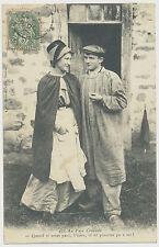AK AU PAYS creusois-man and woman in time typical clothes for 1900 (e414)