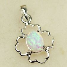 White Opal SSilver Necklace-Free Ship