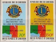 CAMEROUN KAMERUN 1983 1004-05 C303-04 Lions Intl. District 403 Douala Emblem MNH