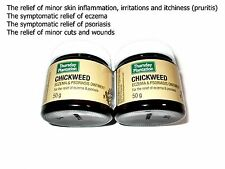 2 x 50g THURSDAY PLANTATION Chickweed Eczema & Psoriasis Ointment
