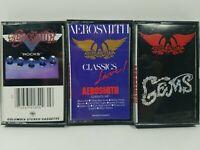 Aerosmith Cassette Tape Lot: Rocks, Classics Live, Gems, (3 cassettes in lot)